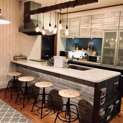 整水器 トリムイオン TRIM ION NEO(イオン発生器)を使ったクチコミ「カウンターキッチンをカフェ風にしています…」