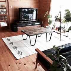 ステンシル/ラグ/夏ラグ/オルテガ柄 ベルギー製平織りラグにオルテガ柄をステン…