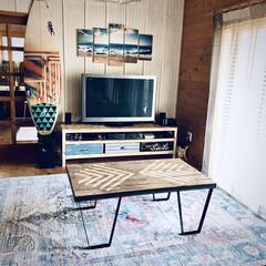 トルコ製 ウィルトン織カーペット『ランディー RUG』約160×225cm 2345339(カーペット、ラグ)を使ったクチコミ「アイアン脚はデザイン画を描いてオーダーし…」