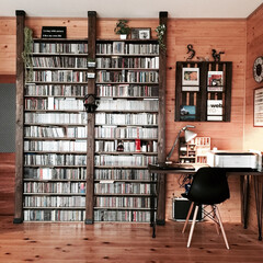 ディアウォール/DIY/壁面収納 1.改善したかった点    大量のCDを…
