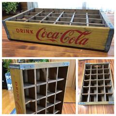 コカコーラ/アンティーク/木製ケース ご近所の酒屋さんからいただいたコカコーラ…