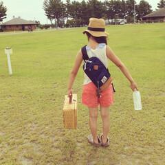 キャンプ/夏/かかし 家族でキャンプ♡かかしがいました♡笑
