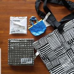 エコバッグ/紙ナプキン/IKEA/雑貨/暮らし 数ヵ月前にIKEAで購入。 一番使ってい…