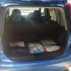 防災セット SHELTER KIDS(非常用持ち出しセット)を使ったクチコミ「防災グッズは車のトランク部分にも備えてい…」