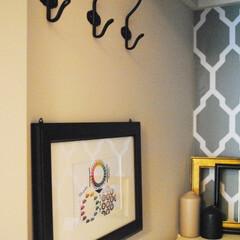クローゼット/カラー/収納/おしゃれ/暮らし クローゼットの入り口には色相環を飾ってい…