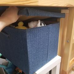 子供部屋収納/おもちゃ収納/収納/ぬいぐるみ収納/ぬいぐるみ ぬいぐるみは子供のベッドの下のスペースに…