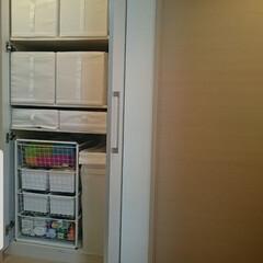 片付け/IKEA収納/IKEA/廊下収納/収納/暮らし 廊下収納はほぼ全てIKEAの収納グッズを…