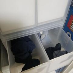 収納/洋服収納/子供部屋収納/無印良品/靴下収納/靴下 子供たちの靴下は無印良品の引き出しケース…