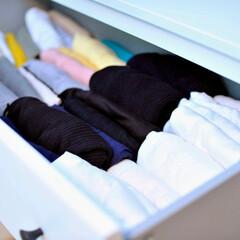 片づけ/収納/クローゼット/クローゼット収納/洋服収納/暮らし トップスの引き出しは「アイテム別×ざっく…