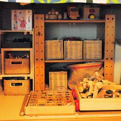 片づけ/収納/押入れ収納/おもちゃ収納/子育て 押入れの下段をおもちゃスペースに。棚やボ…