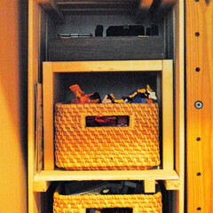 片づけ/収納/DIY/すのこ/おもちゃ収納/子育て/... 100円ショップのすのこを組み合わせて棚…
