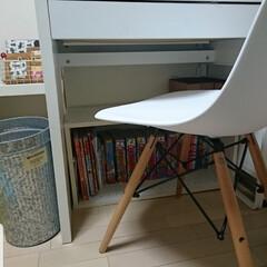 カラーボックス/子供部屋収納/コロコロコミック/子供部屋/収納/暮らし/... IKEAの学習机の下に2段カラーボックス…