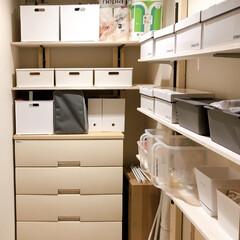 間取りだとS/サービスルーム活用方法/納戸活用方法/サービスルーム収納/納戸収納/収納/... 【納戸収納】  微妙なサイズの納戸… 奥…