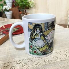 マグカップ/不思議の国のアリス/カエル アリスモチーフが詰まった可愛いマグカップ…