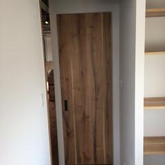 突板/オリジナル/ドア/エイジング オーク材突板にエイジング加工をしたオリジ…