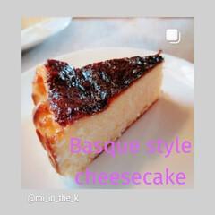 スウィーツ/ホームメイド/バスク風チーズケーキ/チーズケーキ/手作りおやつ/キッチン バスク地方風のチーズケーキを焼いてみまし…