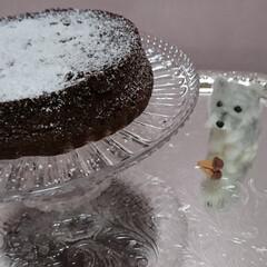 ガトーショコラ/バースデーケーキ/手作り/Homemade/ビターチョコレート/グランマルニエ/... 息子のバースデーに、ガトーショコラを焼き…