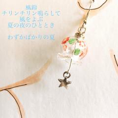 #minne #ENYA/梅雨/おでかけ/雑貨/ファッション/ハンドメイド 夏の風物詩である風鈴ピアスを作ってみまし…