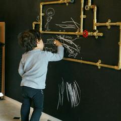 壁紙屋本舗/塩ビパイプ/子ども部屋/セルフリノベーション/セルフリフォーム/スチームパンク/... 書斎として作ったExplorer's R…