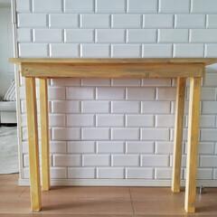 ハンドメイド家具/コンソールテーブル/簡単DIY/DIY/リビング/セリア ディスプレイ用のコンソールテーブルが欲し…(8枚目)