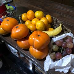 カーテン/果物/豚汁/おうちごはん 芋汁⁉️豚汁⁉️ えのき、椎茸、しめじ、…(2枚目)