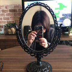 リフトアップ/鏡/ダイソー200円/セリア 随分前にダイソーで購入した鏡✨ お気に入…