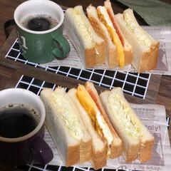 カントリーマアム/サンドイッチ 今日の日曜日、久しぶりに私がお昼ご飯作り…