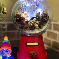 浅漬け/ふりかけ/玄関/クリスマス/点滅ワイヤーライト またまた、キャンディポットクリスマスに変…