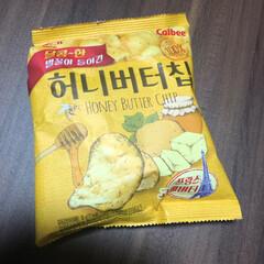 カルビー/韓国ポテトチップス 韓国のお土産?かな⁉️ 旦那さんが頂いて…