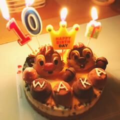 チップとデール/スーパーカップ/ピノ/ねりきゃんランド/アイスケーキ/100均/... ケーキが苦手な娘の誕生日ケーキは、毎年ア…(1枚目)