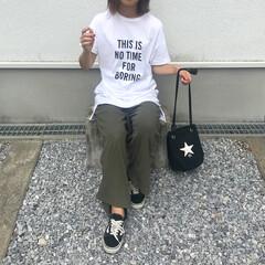 コーデ/主婦/プチプラ/スニーカー/ZARA/男の子ママ/... 🌻 夏のファッションアイテム2018 コ…
