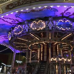 夏/おでかけ/遊園地 夜の観覧車♡