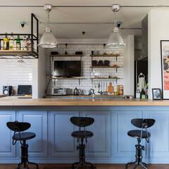 ブルックリンスタイルの家/アイアンのグラスシェルフ/カッコイイ家/インダストリアムの家/塩系の家 イー・プランニング(ぶたさんの家)のつく…
