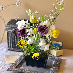春の一枚 春のお花をたくさん詰め込みました♡ 5歳…