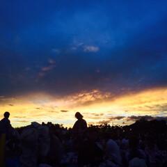 空/夕日 珍しくこんなのも撮ってみました!綺麗〜〜