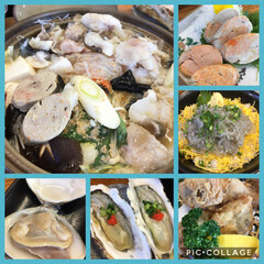コラーゲン/海/唐揚げ/あん肝/蛤/ハマグリ/... 初あんこう鍋🍲 おいしかったぁ😍💕