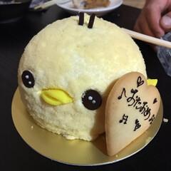 birthday/おたおめ/ヒヨコ/ケーキ/フード/グルメ ぉ店のコのぉ誕生日🎂 友達のやってる居酒…