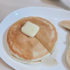 ホットケーキ/カフェ風/北欧/ナチュラル ホットケーキ焼いてみました🤗  2人なら…(2枚目)