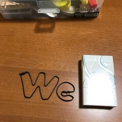 ボード/ワイヤークラフト/苦手/夜な夜な 続。POP作成✂️ 『I』でゎなくて『W…