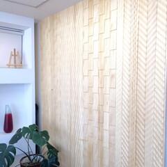 無垢/壁/装飾/デザインウォール/モダン/和モダン/... ナチュラルスタイル事務所内壁をデザインウ…