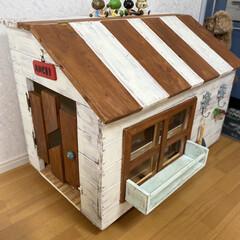 犬小屋/おしゃれ/DIY/動物モチーフグッズ 愛犬のお家DIY(2枚目)