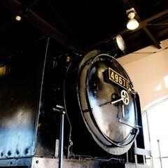 真岡鐵道/真岡駅/蒸気機関車/SL 栃木県真岡駅のSL展示館 動いてなくても…