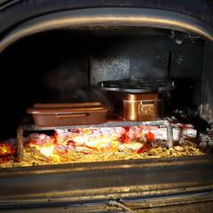 木の家づくり/木の家/おうち時間/宇都宮市/栃木県/阿部興業株式会社/... 薪ストーブで、煮込みハンバーグを作りまし…(4枚目)