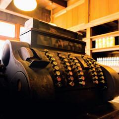 アナログ/レジ/レトロ 昔のレジ アナログのボタンがいっぱい ス…