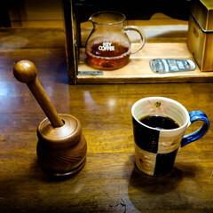 木の家づくり/木の家/香り/川越市/そうび木のアトリエ/コーヒーミル/... 木で出来たコーヒーミル 豆をいれて、グリ…