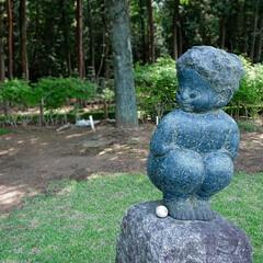 ゴルフ/星の宮CC/銅像 コース内に謎の銅像