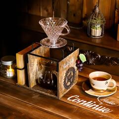ドリッパースタンド/100均DIY/宇都宮/木の家づくり/コーヒーのある暮らし/コーヒー/... コンパクトサイズのドリッパースタンドを作…