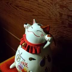 七福神/福よ来い/招き猫 招き猫 天に向かって、福よ来い\(^o^…