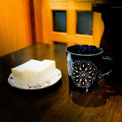 宇都宮/コーヒー/モロッカン食器/牛乳ようかん ホッと一息  コーヒータイム おやつは牛…