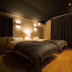 究極の寝室/珪藻土/木炭/オビ杉床材/天然抗酸化水溶液/木の家 4つの天然素材で作る「究極の寝室」 睡眠…